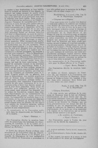 Tome 61 : Du 31 mars au 12 avril 1793 - page 495