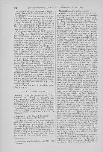 Tome 61 : Du 31 mars au 12 avril 1793 - page 564