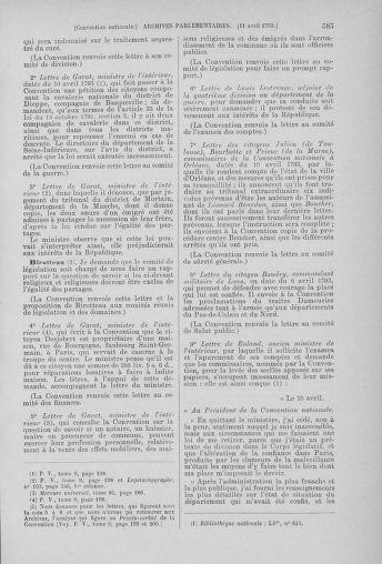 Tome 61 : Du 31 mars au 12 avril 1793 - page 585