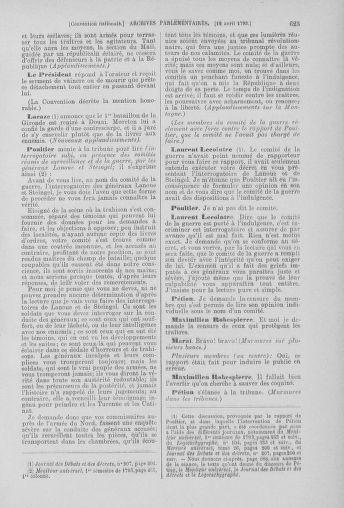 Tome 61 : Du 31 mars au 12 avril 1793 - page 623