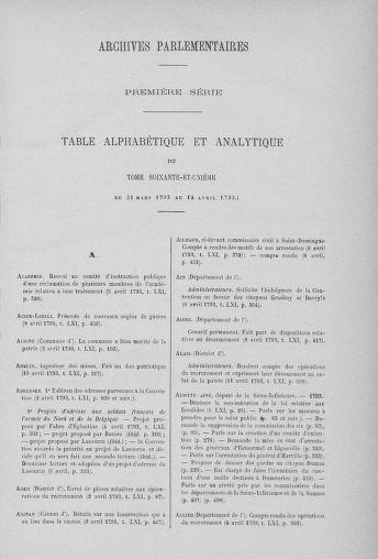 Tome 61 : Du 31 mars au 12 avril 1793 - page ..