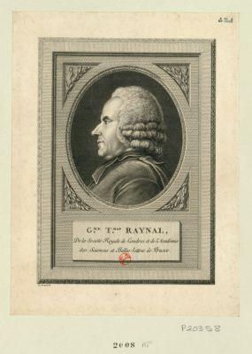 G.me T.mas Raynal de la Société Royale de Londres et de l'Académie des Sciences et Belles-lettres de Prusse : [estampe]