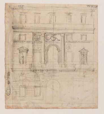 Palazzo Braschi, schizzo di prospetto