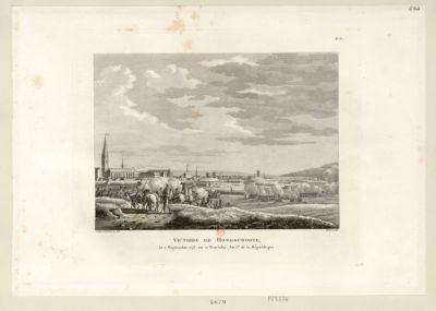 Victoire de Hondschoote le 7 septembre <em>1793</em>, ou 21 fructidor an I.er de la République : [estampe]