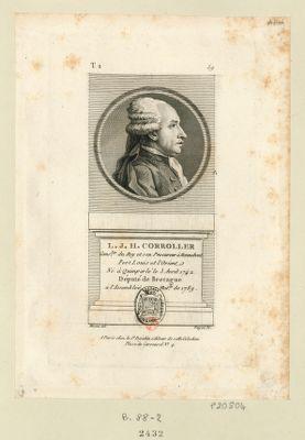 L.J.H. Corroller : cons.ler du Roy et son procureur à Hennebont Port et L'Orient né à Quimperlé le 3 avril 1742 député de Bretagne à l'Assemblée nat.le de 1789 : [estampe]