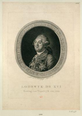 """Lodewyk de <em>XVI</em> koning van Vrankry""""k enz. enz. : [estampe]"""