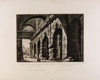 Serbatoio per le Fiere ad uso dé spettacoli del Colosseo detta la Curia Ostilia