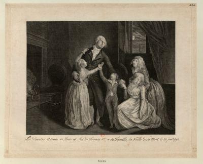 [Les  Derniers adieux de Louis seize roi de France & a a sa famille, la veille de sa mort, le 20 jan.r <em>1793</em>] [estampe]