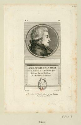 A.e Et. Marie de La Forge né à Auxerre le 26 decembre 1748 député du dit bailliage a l'Assemblée nationale de 1789 : [estampe]
