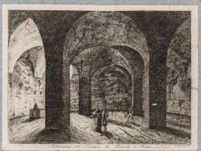 Tempio di Romolo, sotterraneo