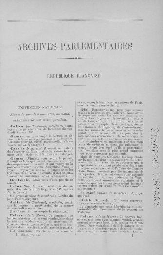 Tome 60 : Du 9 au 30 mars 1793 - page ..