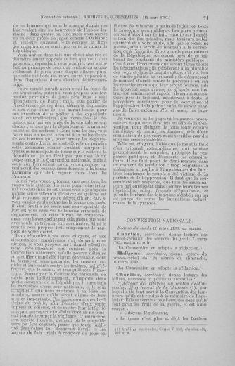 Tome 60 : Du 9 au 30 mars 1793 - page 71