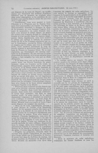 Tome 60 : Du 9 au 30 mars 1793 - page 72