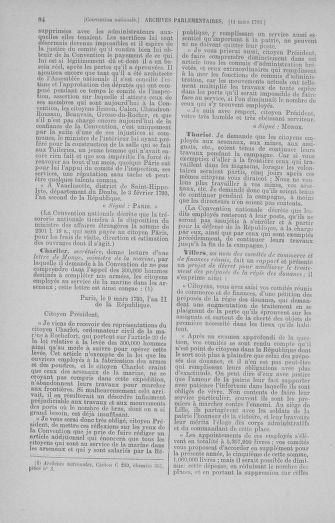 Tome 60 : Du 9 au 30 mars 1793 - page 84