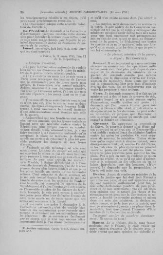 Tome 60 : Du 9 au 30 mars 1793 - page 90