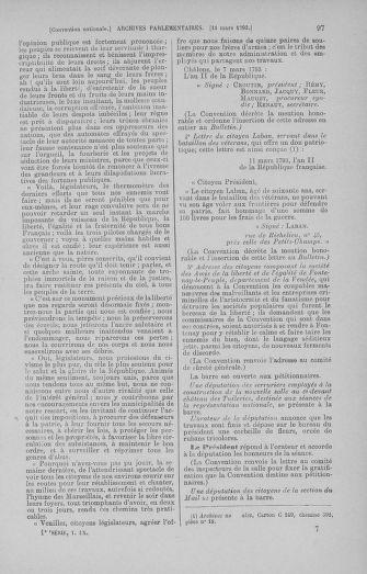 Tome 60 : Du 9 au 30 mars 1793 - page 97