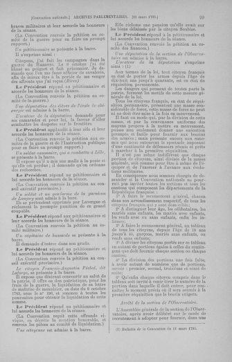 Tome 60 : Du 9 au 30 mars 1793 - page 99