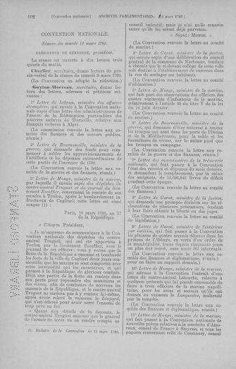 Tome 60 : Du 9 au 30 mars 1793 - page 102