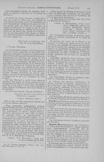 Tome 60 : Du 9 au 30 mars 1793 - page 111