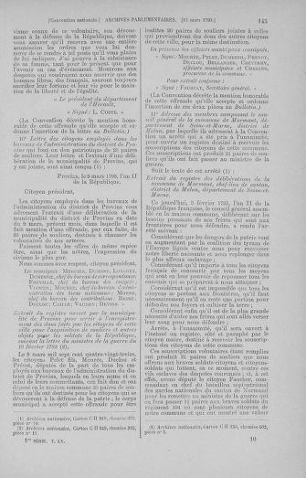 Tome 60 : Du 9 au 30 mars 1793 - page 145
