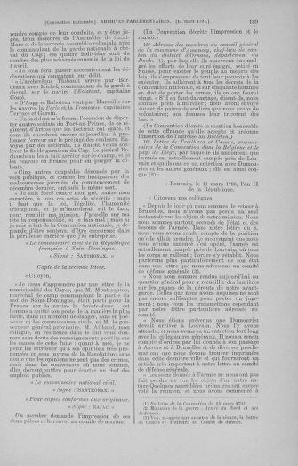 Tome 60 : Du 9 au 30 mars 1793 - page 189
