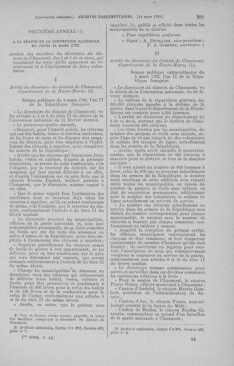 Tome 60 : Du 9 au 30 mars 1793 - page 209
