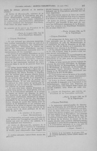 Tome 60 : Du 9 au 30 mars 1793 - page 215