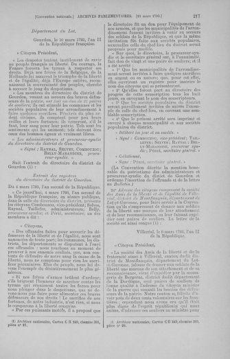 Tome 60 : Du 9 au 30 mars 1793 - page 217