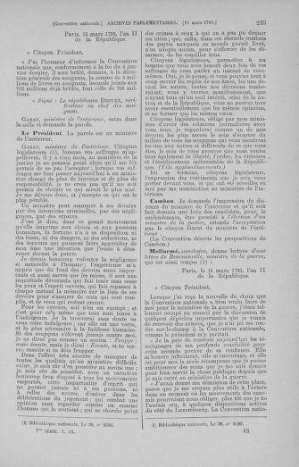 Tome 60 : Du 9 au 30 mars 1793 - page 225