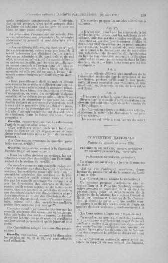 Tome 60 : Du 9 au 30 mars 1793 - page 229