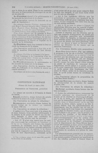 Tome 60 : Du 9 au 30 mars 1793 - page 264