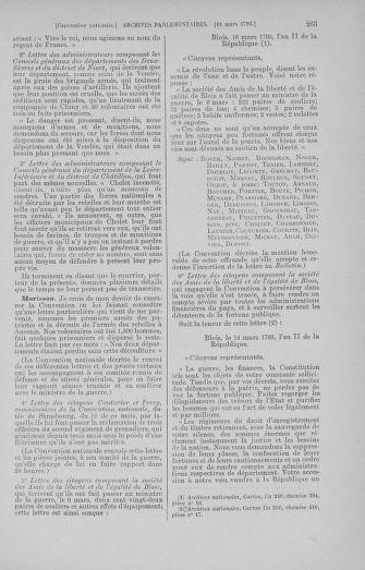 Tome 60 : Du 9 au 30 mars 1793 - page 265