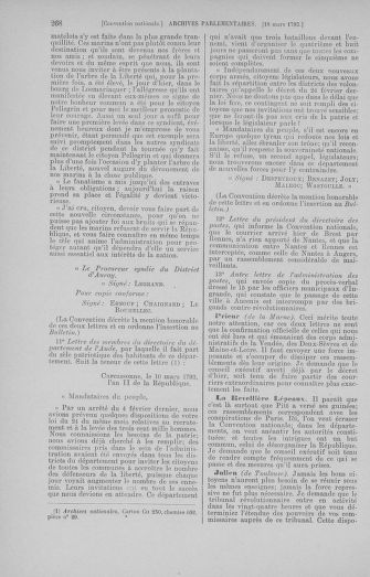 Tome 60 : Du 9 au 30 mars 1793 - page 268