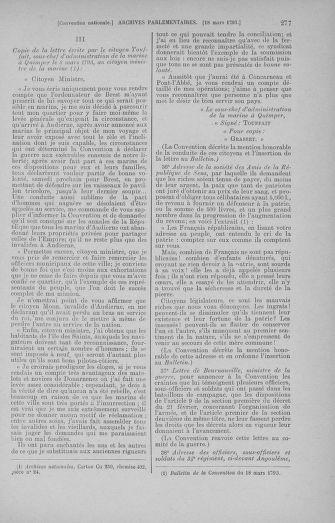 Tome 60 : Du 9 au 30 mars 1793 - page 277