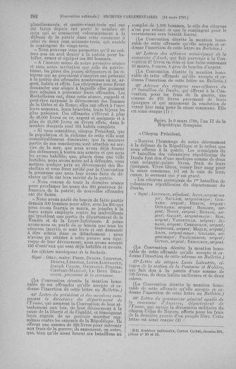 Tome 60 : Du 9 au 30 mars 1793 - page 282