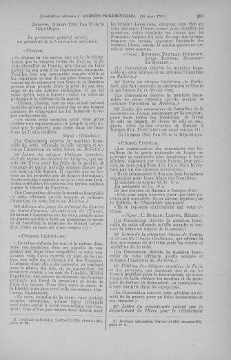 Tome 60 : Du 9 au 30 mars 1793 - page 283