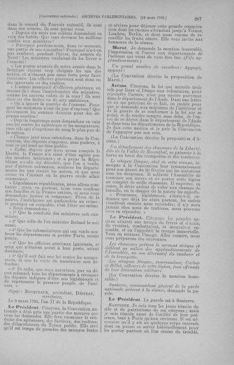 Tome 60 : Du 9 au 30 mars 1793 - page 287