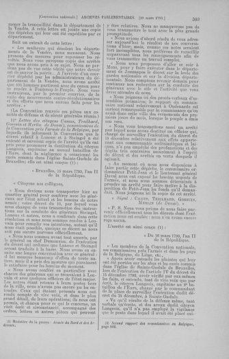 Tome 60 : Du 9 au 30 mars 1793 - page 303