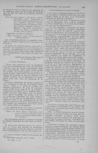 Tome 60 : Du 9 au 30 mars 1793 - page 305
