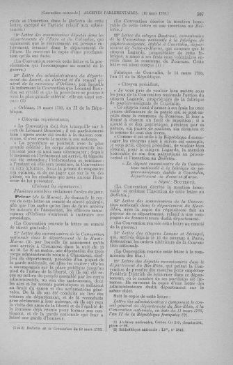 Tome 60 : Du 9 au 30 mars 1793 - page 307
