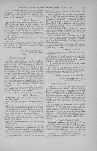 Tome 60 : Du 9 au 30 mars 1793 - page 309