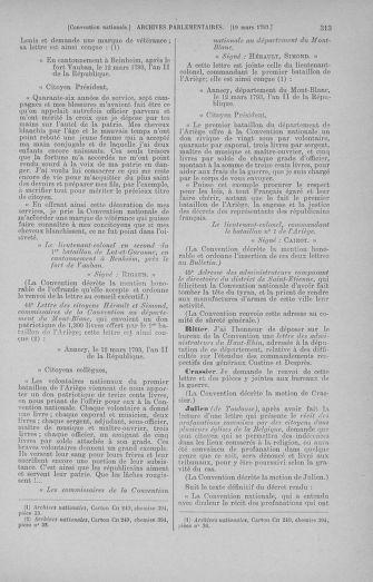 Tome 60 : Du 9 au 30 mars 1793 - page 313
