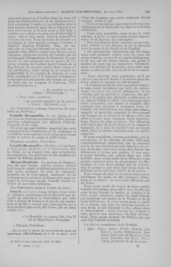 Tome 60 : Du 9 au 30 mars 1793 - page 321