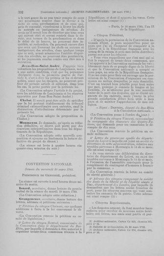 Tome 60 : Du 9 au 30 mars 1793 - page 332