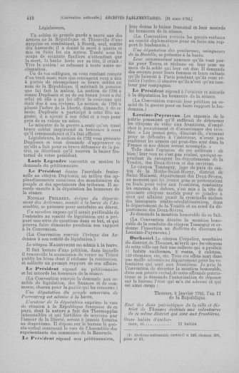 Tome 60 : Du 9 au 30 mars 1793 - page 418