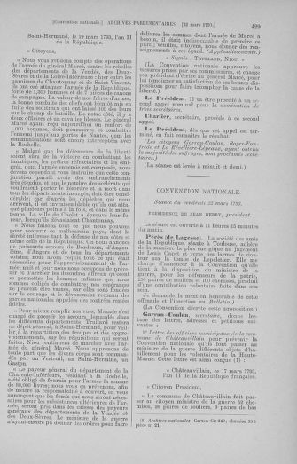 Tome 60 : Du 9 au 30 mars 1793 - page 429