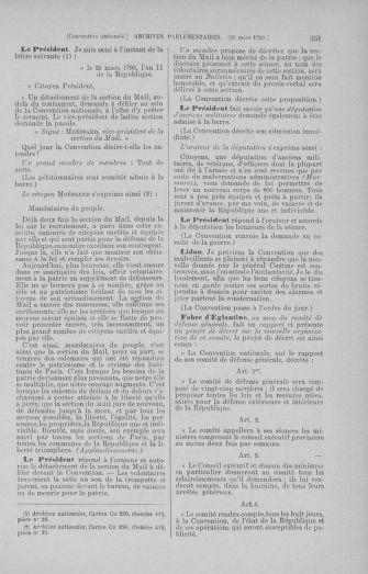 Tome 60 : Du 9 au 30 mars 1793 - page 551