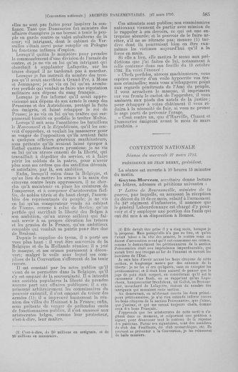 Tome 60 : Du 9 au 30 mars 1793 - page 585