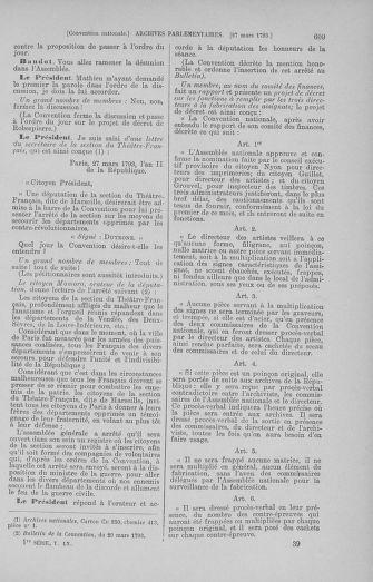 Tome 60 : Du 9 au 30 mars 1793 - page 609