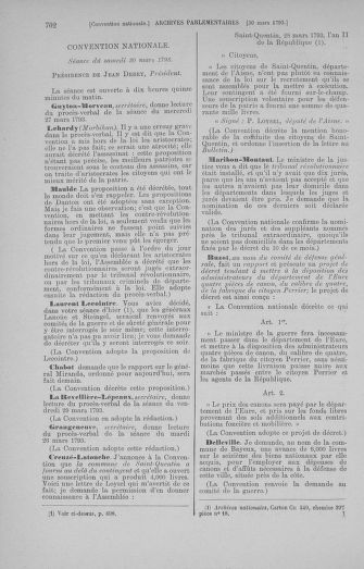 Tome 60 : Du 9 au 30 mars 1793 - page 702
